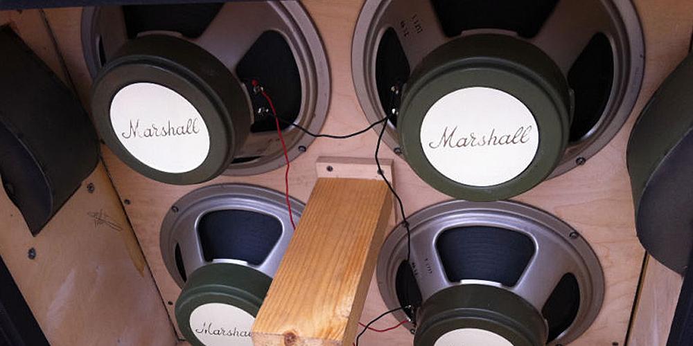 Fake Quad Vintage Celestion G12H Marshall T1217 speakers