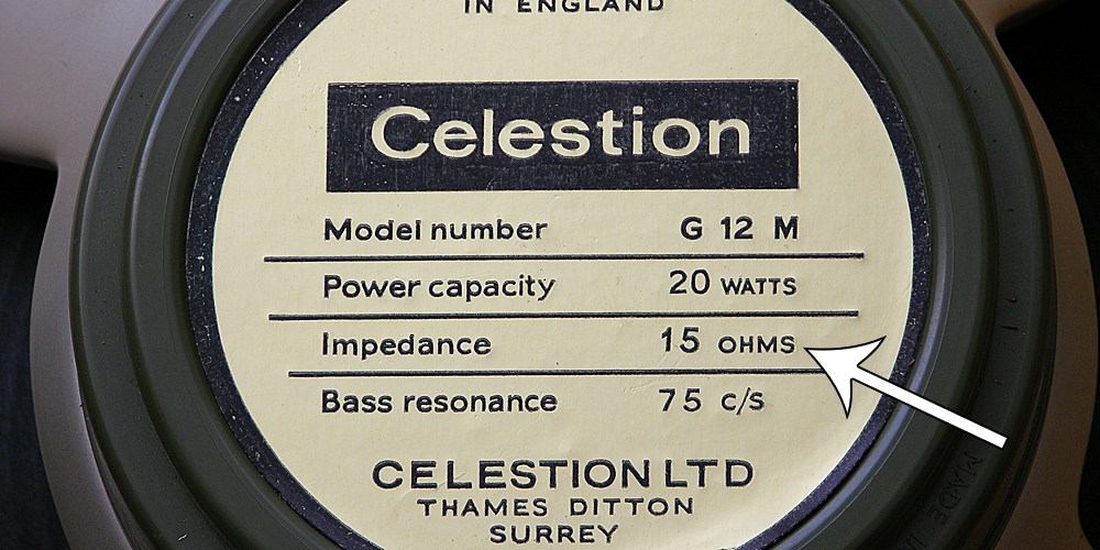 Genuine Vintage Celestion 15 Ohm label