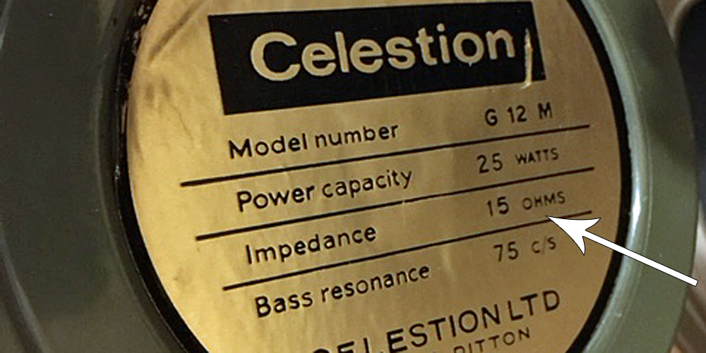 Fake Vintage Celestion 15 Ohm label