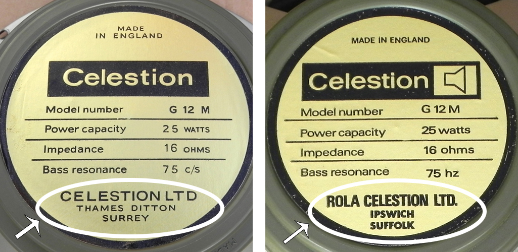 Pre-rola label (left) vs rola label (right)