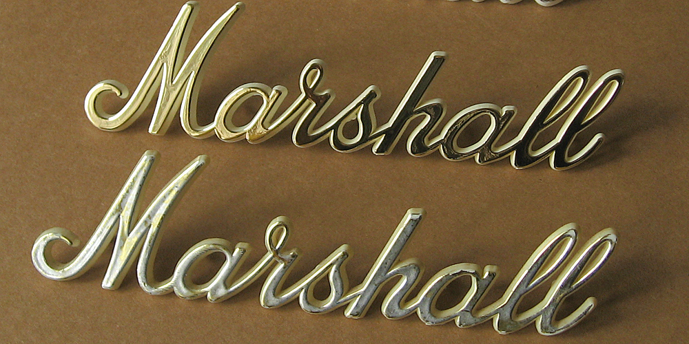 Music Ground logo (top) vs original Marshall logo (bottom)