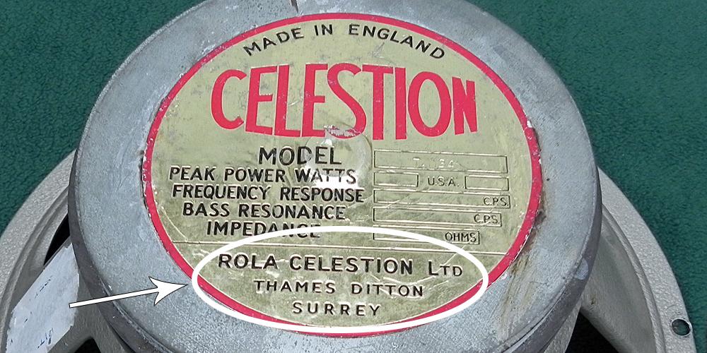 Rola Thames Ditton label