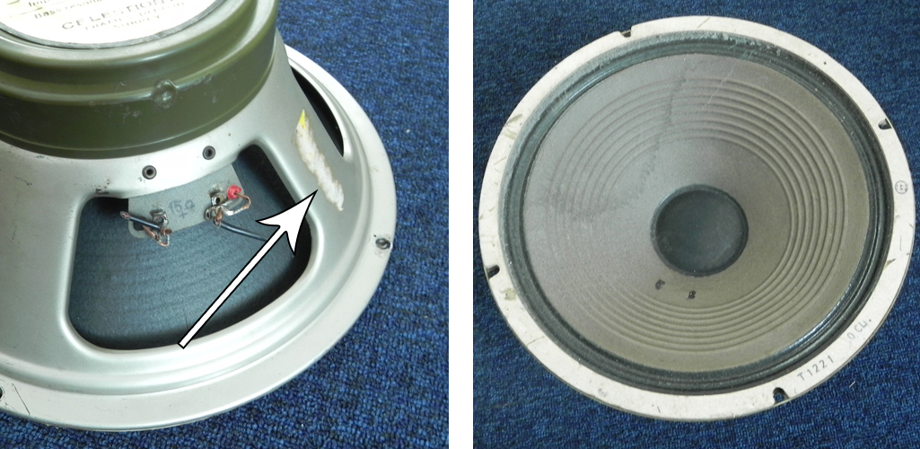 Re-coned speaker with original gasket
