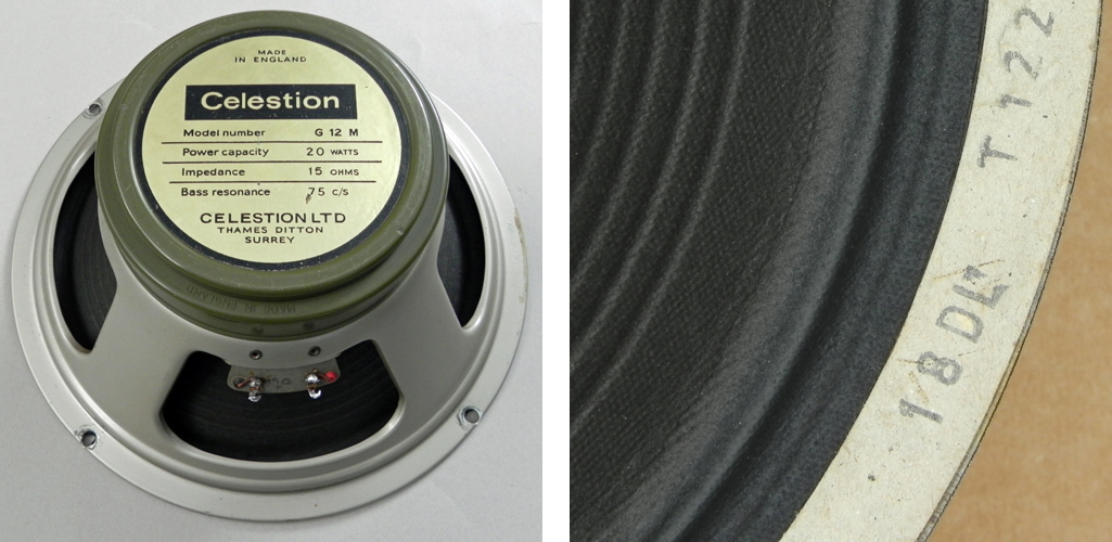 Celestion greenback G12M 20w T1221