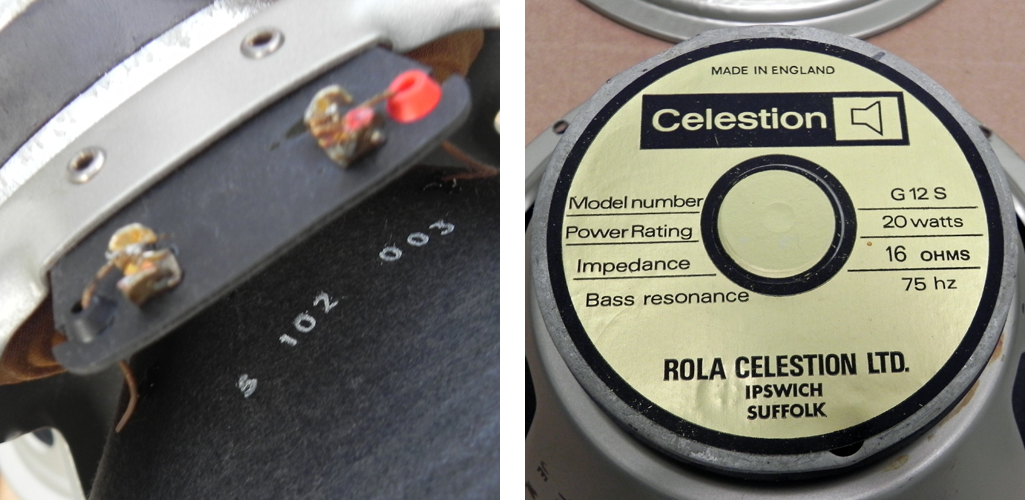 Celestion G12S pulsonic cone