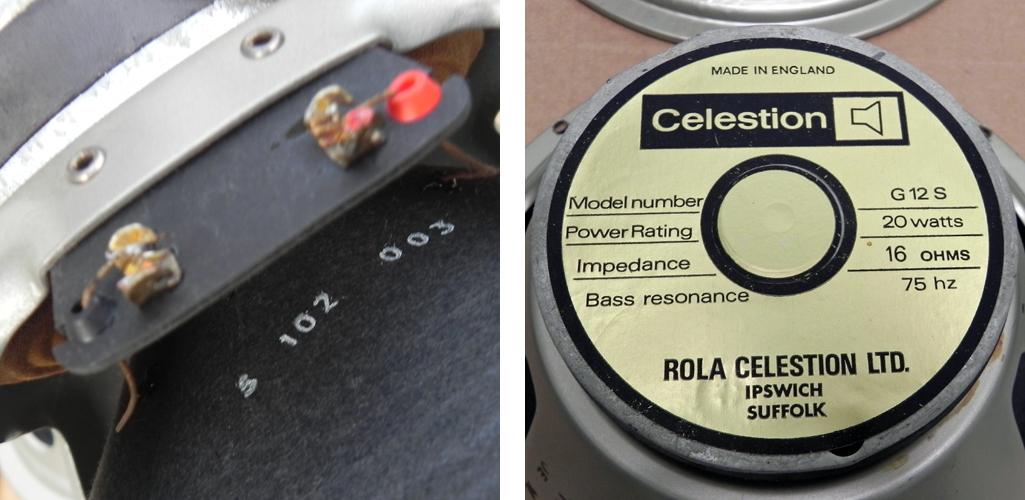 Celestion G12S pulsonic cone