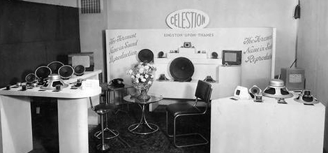 Celestion 1950's display stand