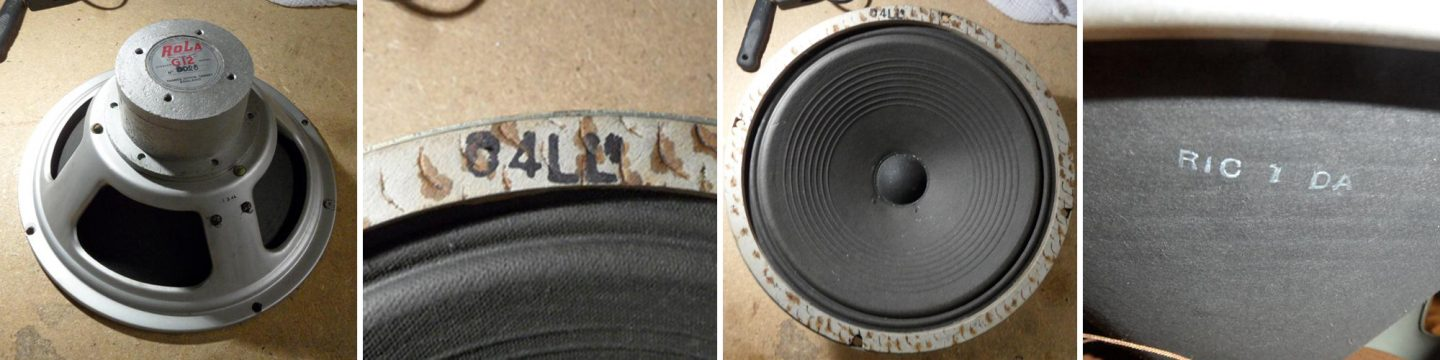 Rola Celestion B025 alnico G12 dated 1954
