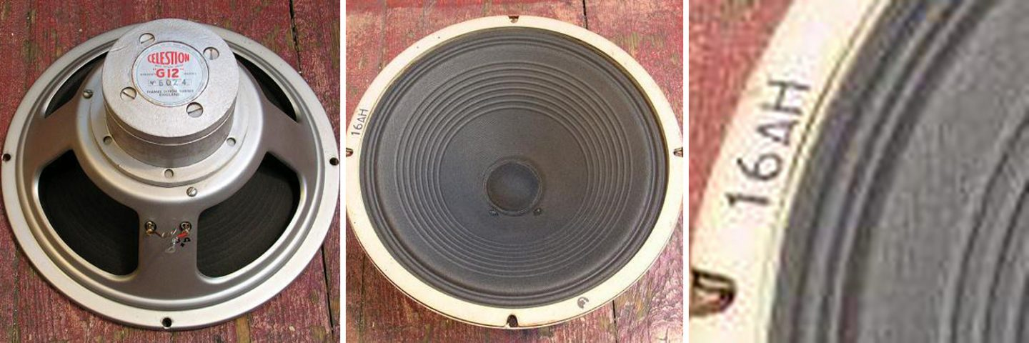 Rola Celestion B024 alnico G12 dated 1963 pulsonic