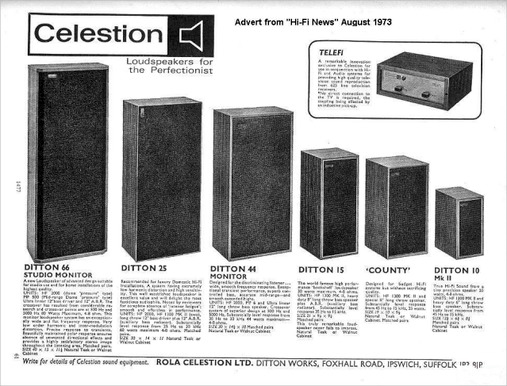 Celestion Ditton hifi speakers advert