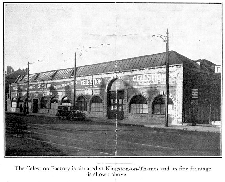Celestion Kingston on Thames factory