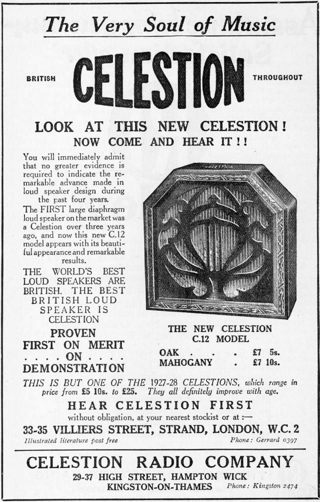 Celestion C12 Speaker