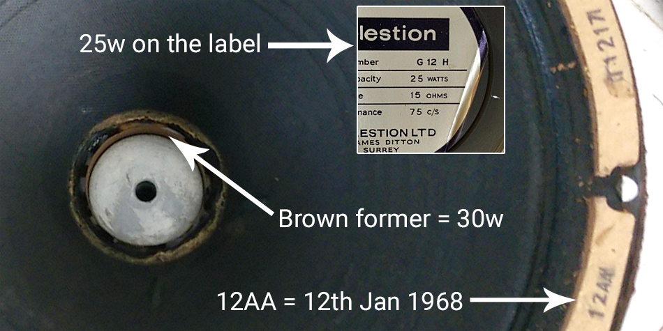 The labels only changed several months after the voice coils.