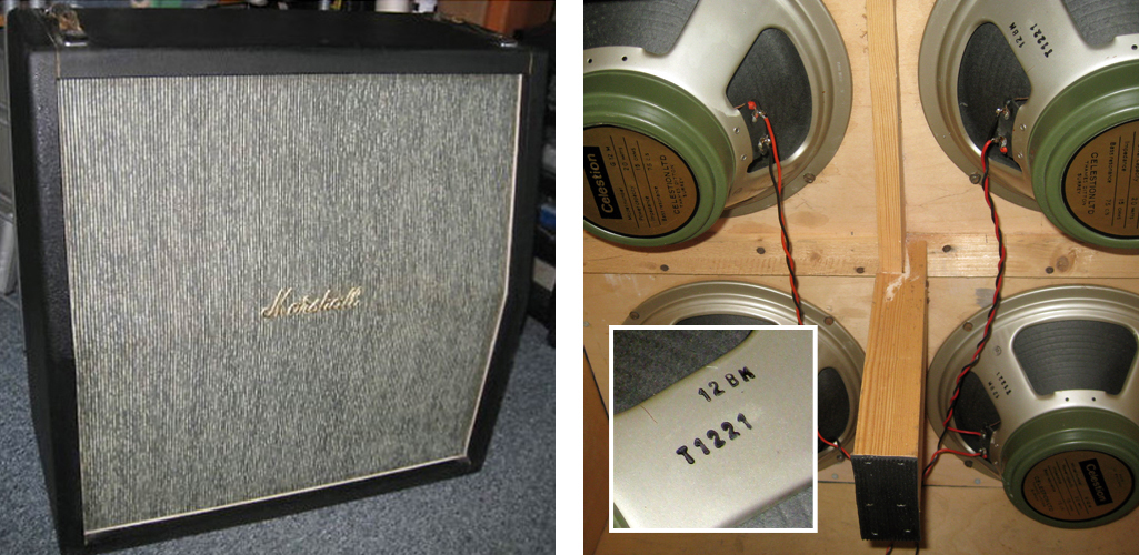 Fake Marshall plexi period pinstripe strap handle cab
