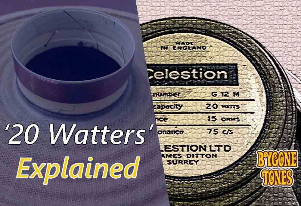 Celestion Greenback 20 Watt G12M Explained
