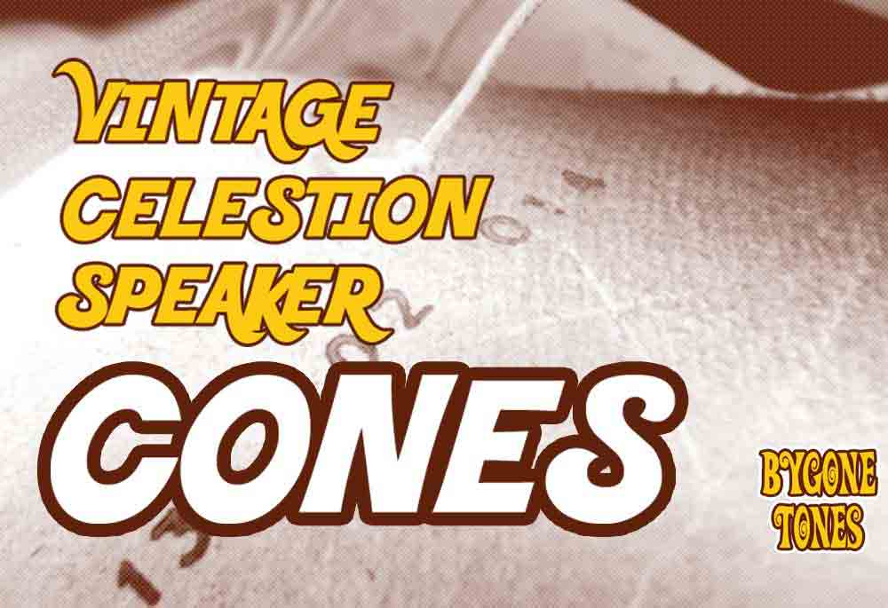 Vintage Celestion Guitar Speaker Cones