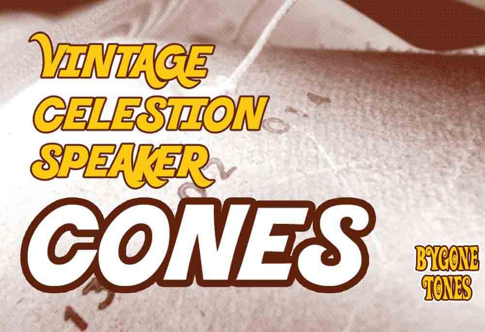 Vintage Celestion Guitar Speaker Cones