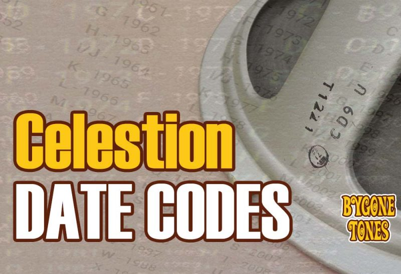 Celestion Date Codes