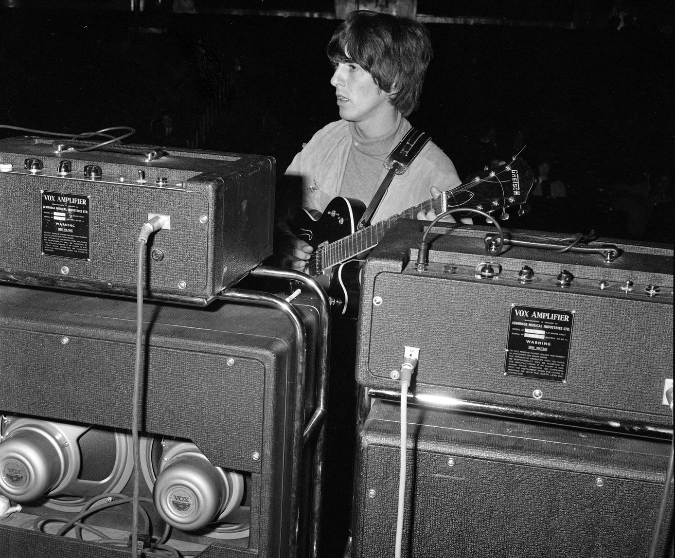 George Harrison With Vox Silvers