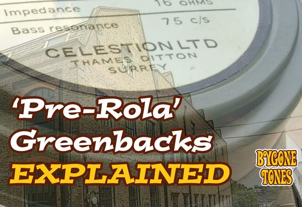 'Pre-Rola' Greenbacks Explained